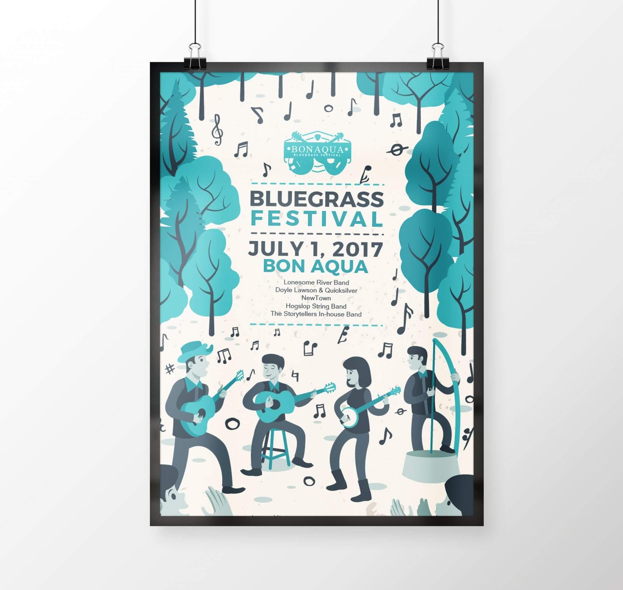 Bon Aqua Bluegrass Festival Posters
