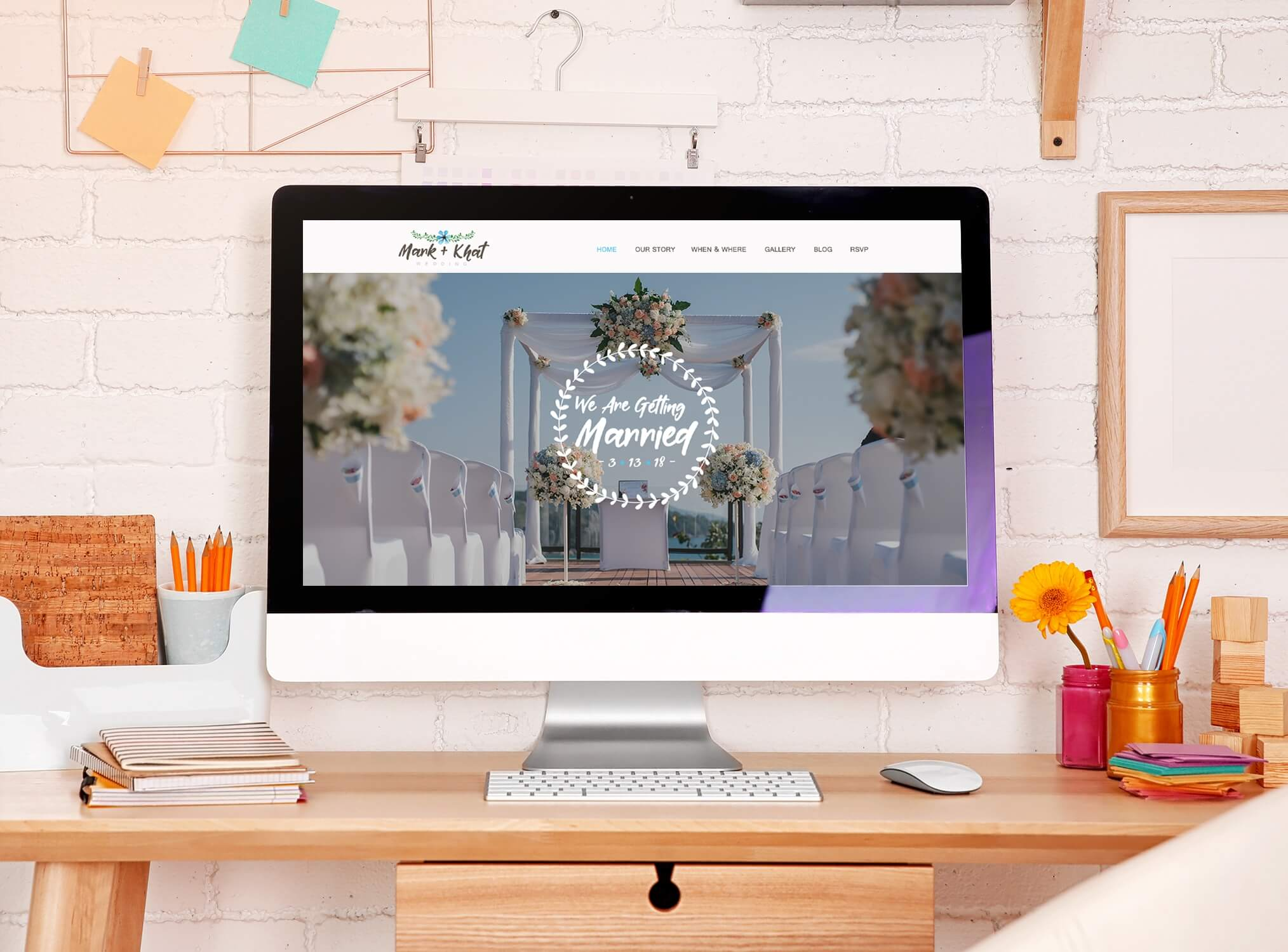 Wedding Website UI Deisgn